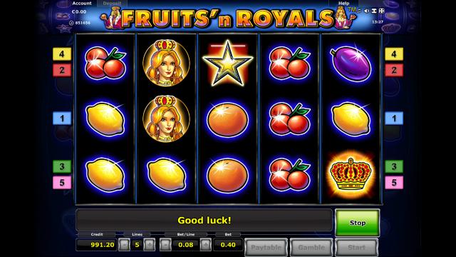 игровой автомат Fruits And Royals 7