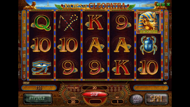 популярный слот Riches Of Cleopatra 9