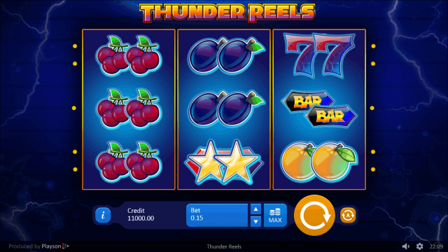 онлайн аппарат Thunder Reels 1