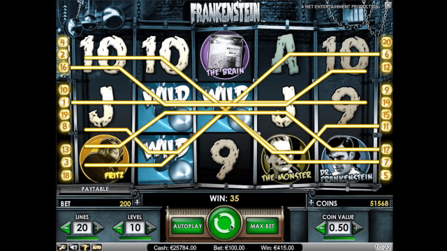 игровой автомат Frankenstein 8