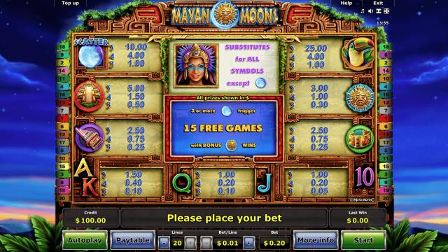 игровой автомат Mayan Moons 2