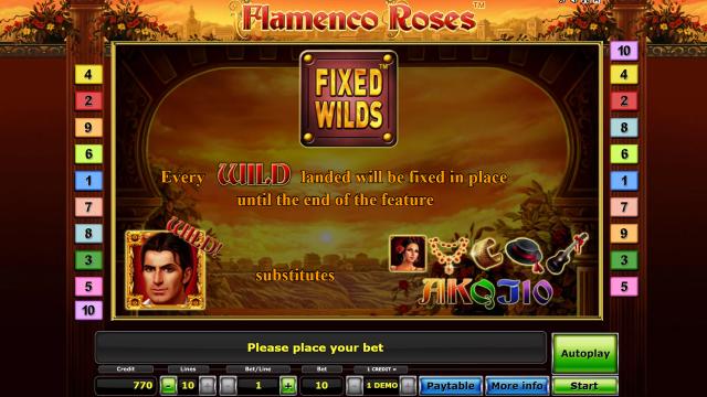 игровой автомат Flamenco Roses 7