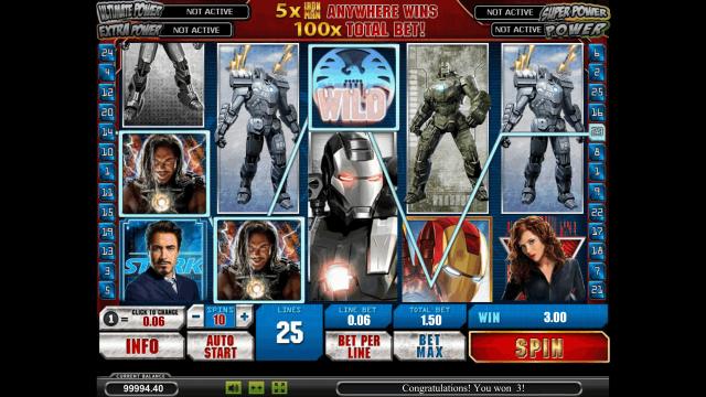 игровой автомат Iron Man 2 5