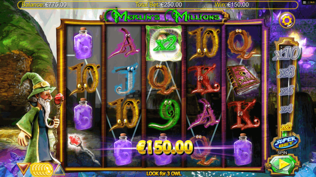 популярный слот Merlin's Millions 10