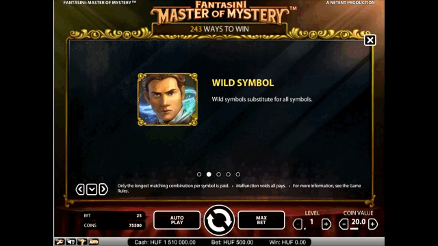 игровой автомат Fantasini: Master Of Mystery 2