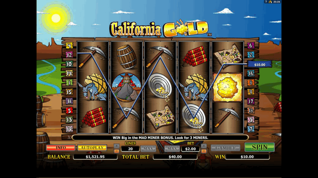 онлайн аппарат California Gold 10
