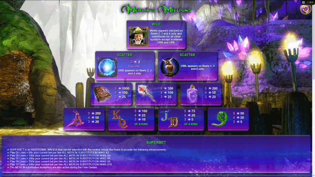 онлайн аппарат Merlin's Millions 4