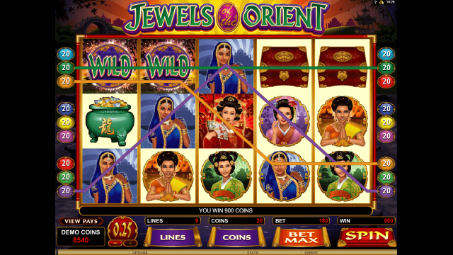 игровой автомат Jewels Of The Orient 7