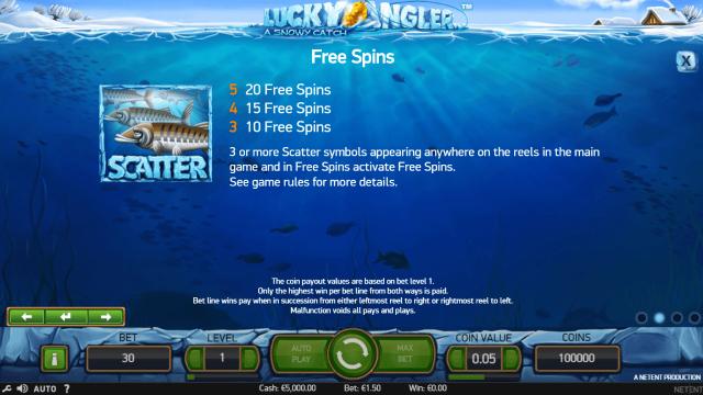 онлайн аппарат Lucky Angler: A Snowy Catch 3