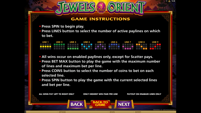 игровой автомат Jewels Of The Orient 6