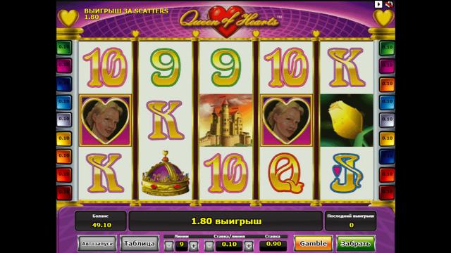 популярный слот Queen Of Hearts 3