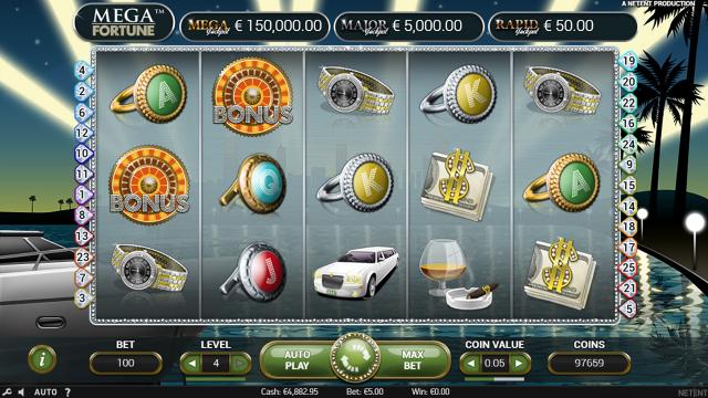 игровой автомат Mega Fortune 6