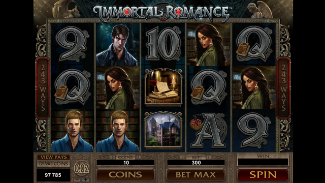популярный слот Immortal Romance 10