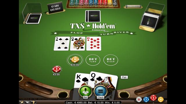 онлайн аппарат TXS Hold'em Pro Series 5