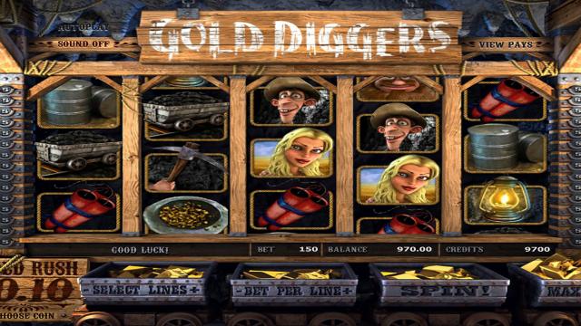 популярный слот Gold Diggers 9