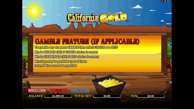 игровой автомат California Gold 6