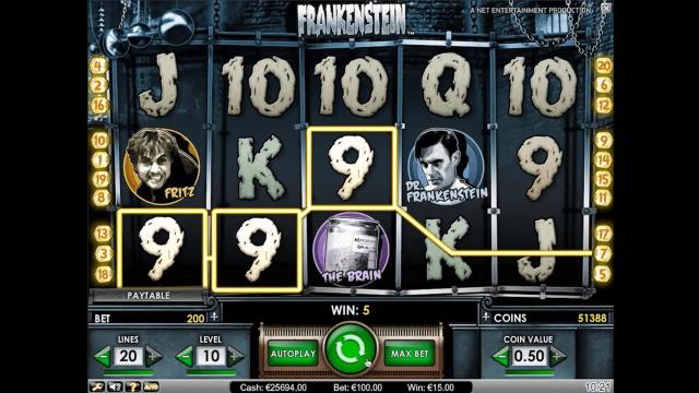 популярный слот Frankenstein 5