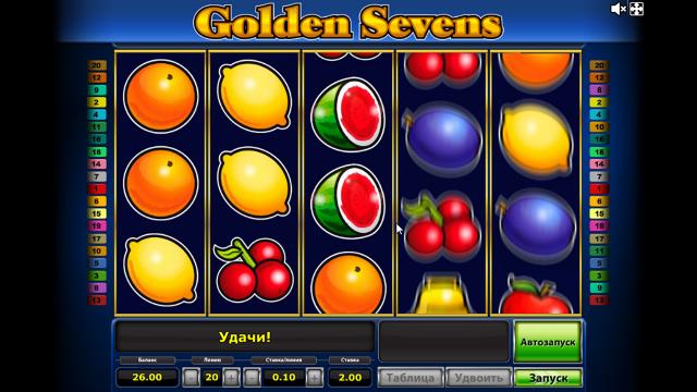 популярный слот Golden Sevens 9