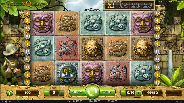 онлайн аппарат Gonzo's Quest 9