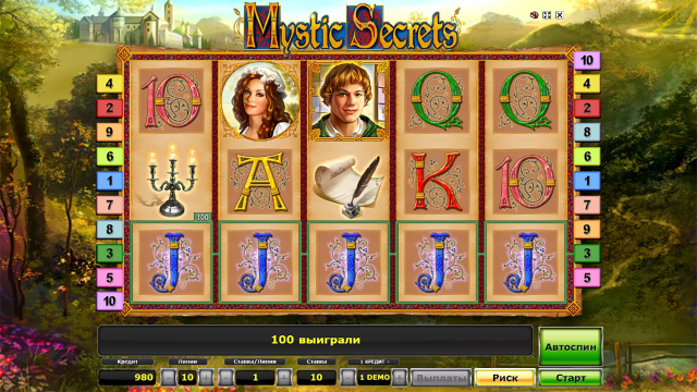 игровой автомат Mystic Secrets 7