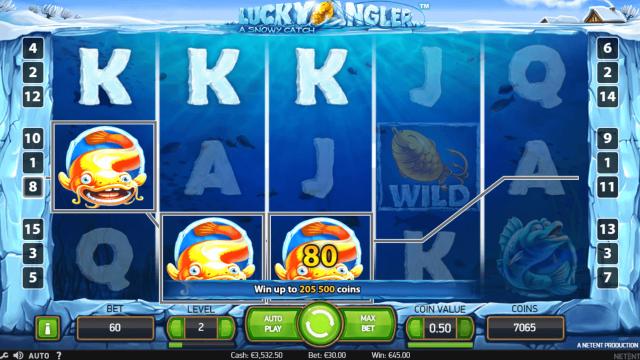 популярный слот Lucky Angler: A Snowy Catch 8