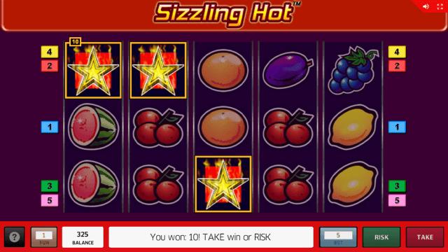 онлайн аппарат Sizzling Hot 14