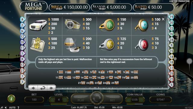 онлайн аппарат Mega Fortune 2