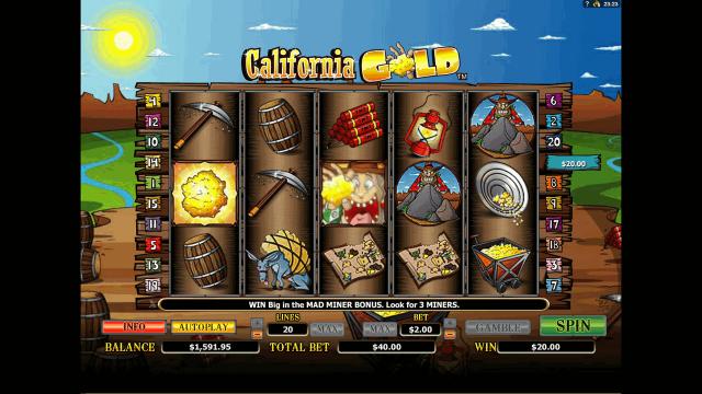 популярный слот California Gold 9
