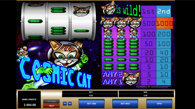 игровой автомат Cosmic Cat 5