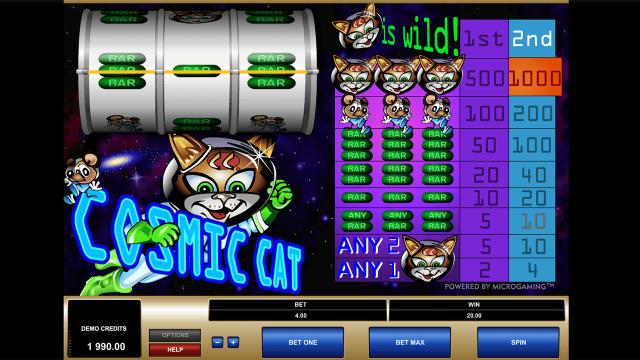 игровой автомат Cosmic Cat 8