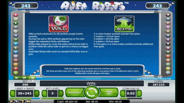 игровой автомат Alien Robots 9