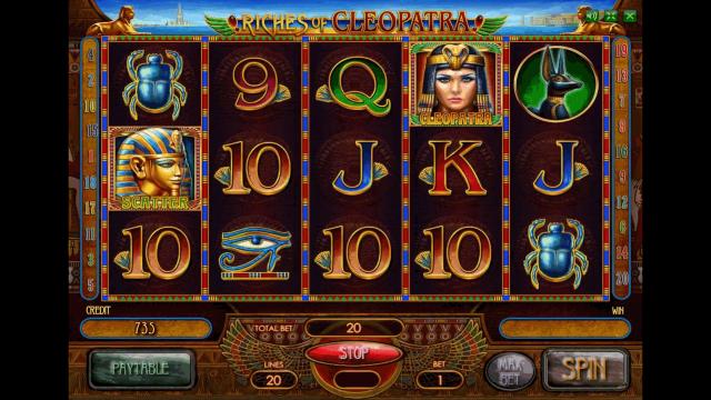 онлайн аппарат Riches Of Cleopatra 3