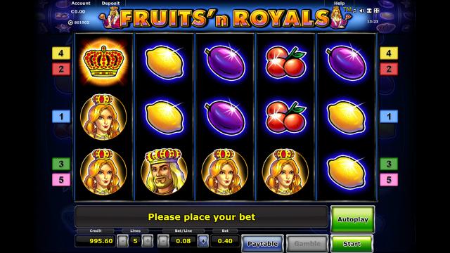 онлайн аппарат Fruits And Royals 4