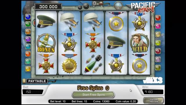 игровой автомат Pacific Attack 6