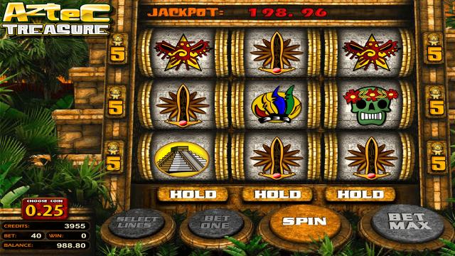 игровой автомат Aztec Treasure 2D 3