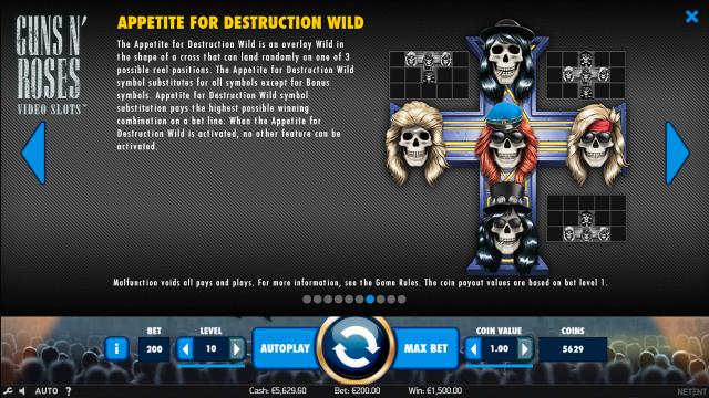 популярный слот Guns N' Roses 7