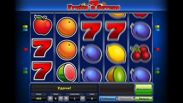 популярный слот Fruits' N Sevens 4