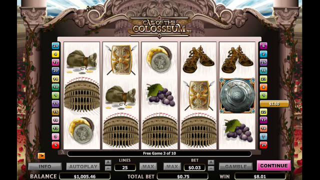 онлайн аппарат Call Of The Colosseum 1