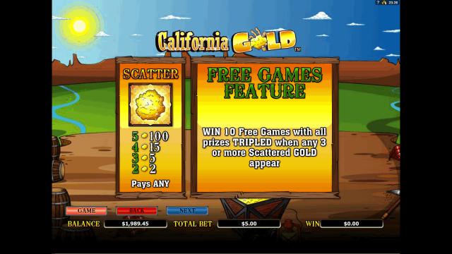 онлайн аппарат California Gold 3