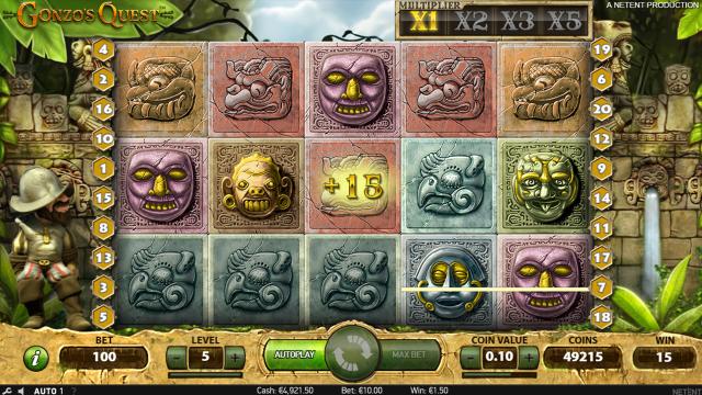 популярный слот Gonzo's Quest 8