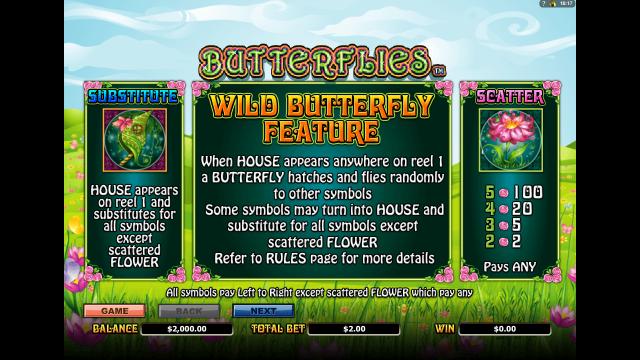 онлайн аппарат Butterflies 1