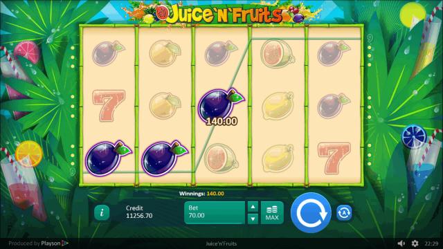 игровой автомат Juice 'N' Fruits 10