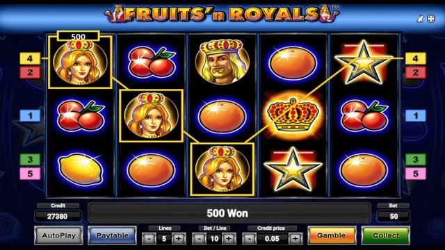 игровой автомат Fruits And Royals 9