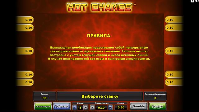 игровой автомат Hot Chance 9