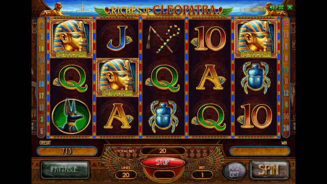 онлайн аппарат Riches Of Cleopatra 10