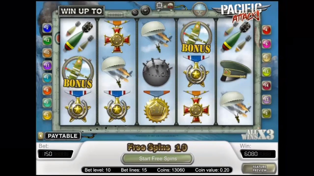 игровой автомат Pacific Attack 4