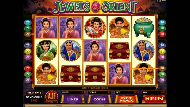 онлайн аппарат Jewels Of The Orient 8