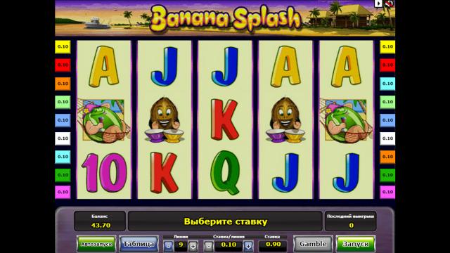игровой автомат Banana Splash 5