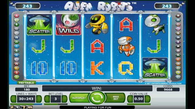 игровой автомат Alien Robots 3