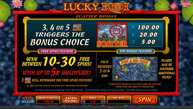 онлайн аппарат Lucky Koi 3